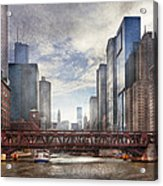 City - Chicago Il - Looking Toward The Future Acrylic Print