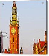City Hall In Gdansk Acrylic Print