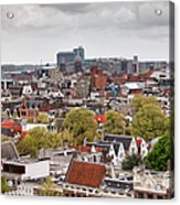 City Of Amsterdam From Above Acrylic Print