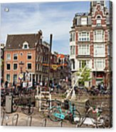 City Of Amsterdam In Netherlands Acrylic Print