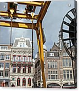 City Of Amsterdam Urban Scenery Acrylic Print