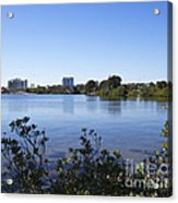 City Of Melbourne On The Intracoastal Waterway In Central Florid Acrylic Print