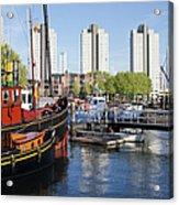 City Of Rotterdam Cityscape In Netherlands Acrylic Print