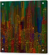 Cityscape 5 Acrylic Print by Jack Zulli