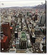 Cityscape Of Sapporo, Hokkaido, Japan Acrylic Print