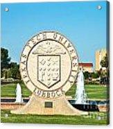 Classical Image Of The Texas Tech University Seal  Acrylic Print