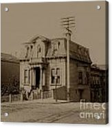 Clay And Hyde Street's San Francisco Built In 1874 Burned In The 1906 Fire Acrylic Print