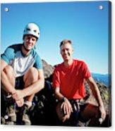 Climbing Foley Peak Acrylic Print