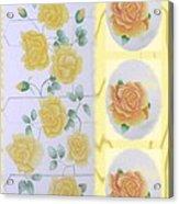 Climbing Yellow Roses Acrylic Print