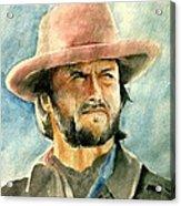 Clint Eastwood Acrylic Print by Nitesh Kumar
