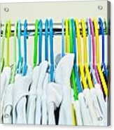 Clothes Hangers Acrylic Print by Tom Gowanlock
