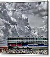 Clouds Over Stadium Acrylic Print