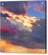 Cloudscape Sunset Touch Of Blue Acrylic Print