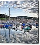 Cloudy Morning - Lyme Regis Harbour Acrylic Print