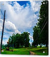 Cloudy Trail Acrylic Print