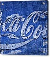 Coca Cola Blues Acrylic Print