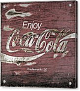 Coca Cola Pink Grunge Sign Acrylic Print