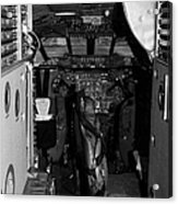 cockpit of the British Airways Concorde Acrylic Print