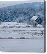 Cold Blue Snow Acrylic Print