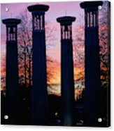 Colonnade In A Park At Sunset, 95 Bell Acrylic Print