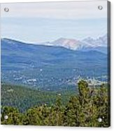 Colorado Continental Divide 5 Part Panorama 5 Acrylic Print