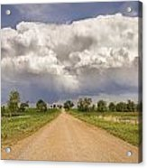 Colorado Country Road Stormin Skies Acrylic Print