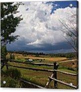 Colorado Ranch Acrylic Print by Michael J Bauer