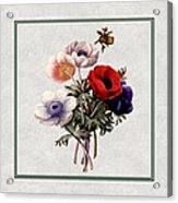 Colorful Anemones Square Acrylic Print