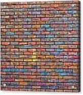 Colorful Brick Wall Texture Acrylic Print
