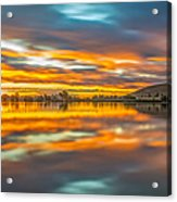 Colorful Clouds At Sunrise Acrylic Print