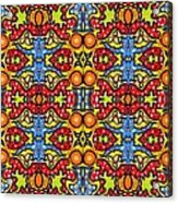 Colorful Folklore Pattern Acrylic Print