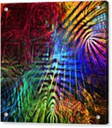 Colorful Psychedelic Abstract Fractal Art Acrylic Print