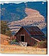 Columbia River Barn Acrylic Print