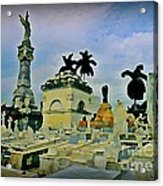 Columbus Cemetary Havana Acrylic Print