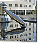 Columbus Ohio Justice Center Acrylic Print by Frozen in Time Fine Art Photography