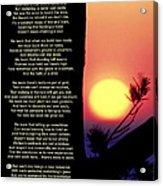 Comes The Dawn Acrylic Print