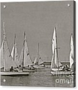 Comet Race In Black And White  Acrylic Print