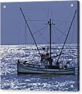 Commercial Fishing Boat Dickey Byrd Out Of Half Moon Bay Acrylic Print