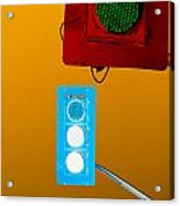 Confusing Wrong-color Traffic Lights And Copyspace Acrylic Print