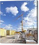 Construction Site Acrylic Print by Hans Engbers