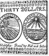 Continental Banknote, 1776 Acrylic Print