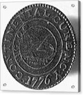 Continental Dollar, 1776 Acrylic Print