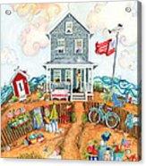 Corgie Street Cottage Acrylic Print