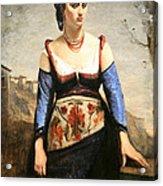 Corot's Agostino Acrylic Print