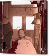 Corpse Bullet Holes Train Robber Cole Estes Aka Cole Young 1872-1896 Collage 1896-2012  Acrylic Print