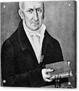 Count Alessandro Volta (1745-1827) Acrylic Print