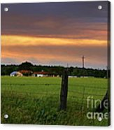 Country Evening Acrylic Print