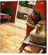 Courtyard Of A Villa Acrylic Print by Elena Elisseeva