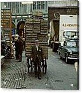 Covent Garden Market 1973 Acrylic Print by David Davies