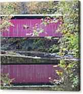 Covered Bridge Along The Wissahickon Creek Acrylic Print